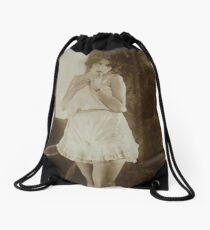Victorian Vintage Posing Lady Erotic French Sultry Drawstring Bag
