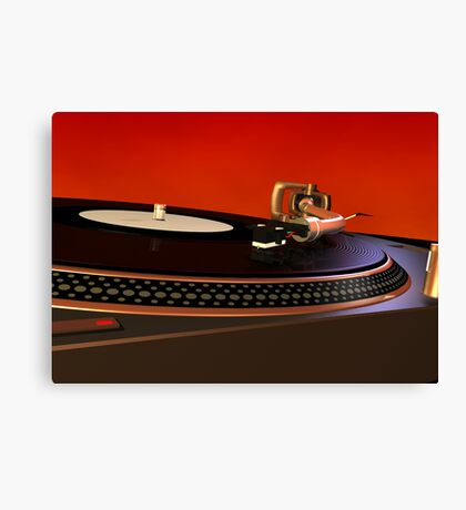 Technics 1210 3D needle model Canvas Print