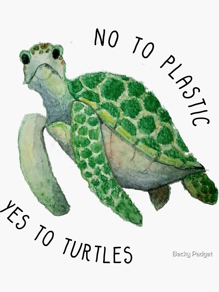 No to plastic, yes to turtles by meowsaidwhale