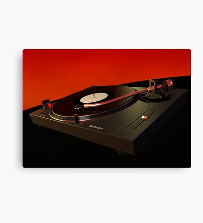 Technics 1210 3D model Canvas Print
