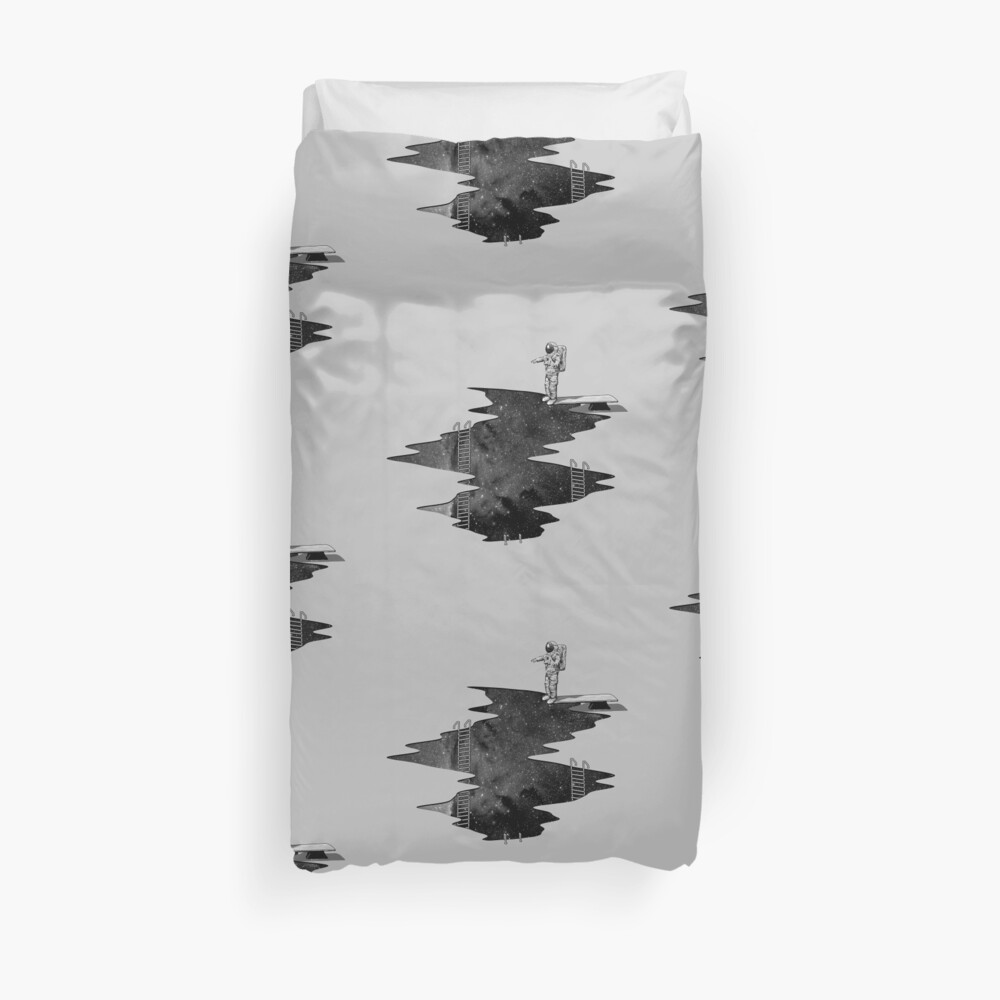 Space Diving Duvet Cover