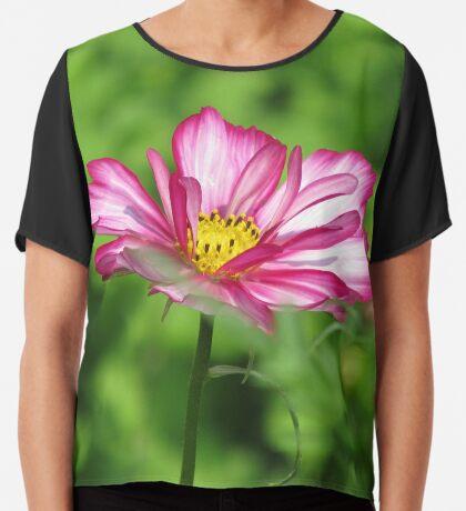 zauberhafte Blumenwiese, Blüten, Blumen, Sommer, Sonne, Natur, Frühjahr, Garten, Wiese, pink Chiffontop für Frauen