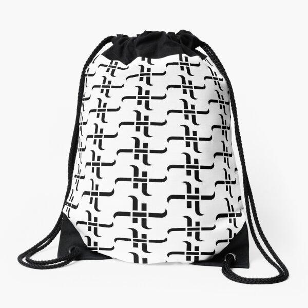 "HaXxXo VtotheZ's ""The H"" Black on White {Tiled} Drawstring Bag"