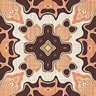 «Salmón Naranja Taupe Marrón Beige Hip Orient Bali Art» de LC Graphic Design Studio