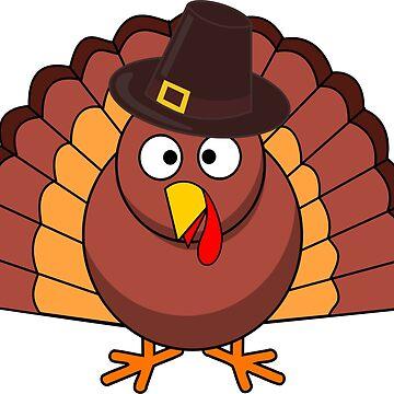 Thanksgiving Turkey Funny Shirt for Men Women Boys & Girls by merkraht