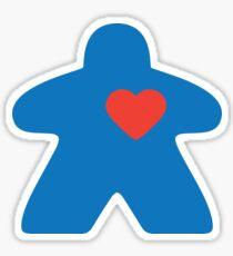 Meeple love - blue Sticker