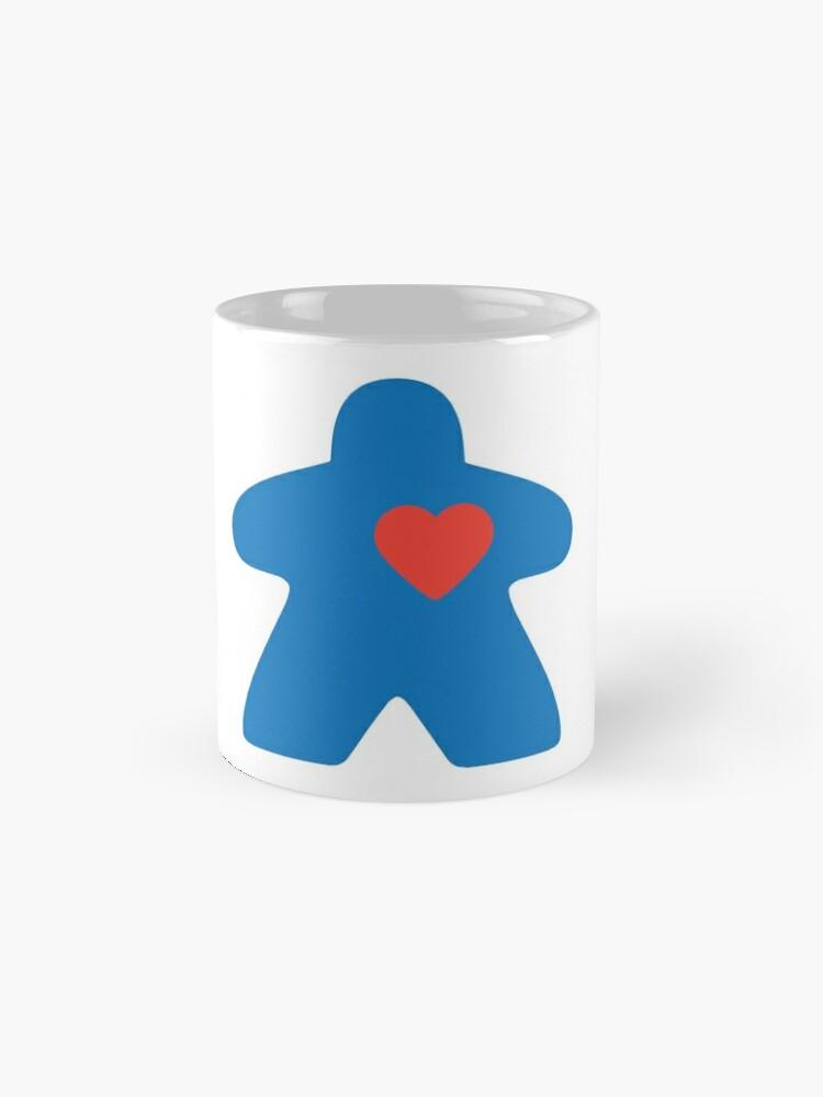 Alternate view of Meeple love - blue Mug