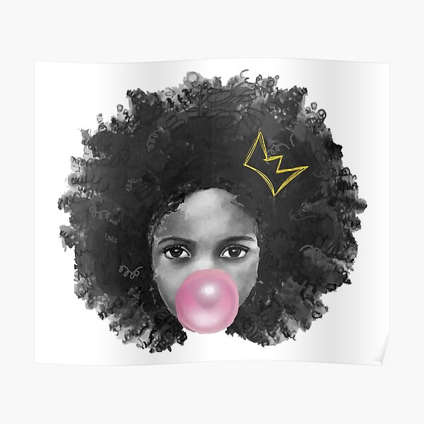 Afro Crown Poster