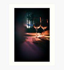 Wedding reception banquet party table  Art Print