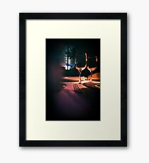 Wedding reception banquet party table  Framed Print