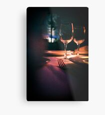 Wedding reception banquet party table  Metal Print