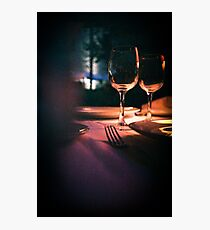 Wedding reception banquet party table  Photographic Print