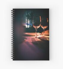 Wedding reception banquet party table  Spiral Notebook