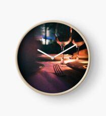 Wedding reception banquet party table  Clock