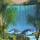 Prehistoric Waterfall. by Walter Colvin