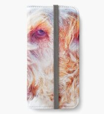 Windswept Italian Spinone in a Snowstorm iPhone Wallet/Case/Skin