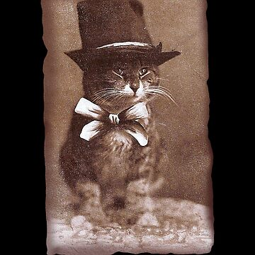 Vintage Top Hat Cat by Kittyworks