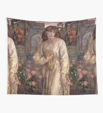 Salutation of Beatrice -  Dante Gabriel Rossetti Wall Tapestry