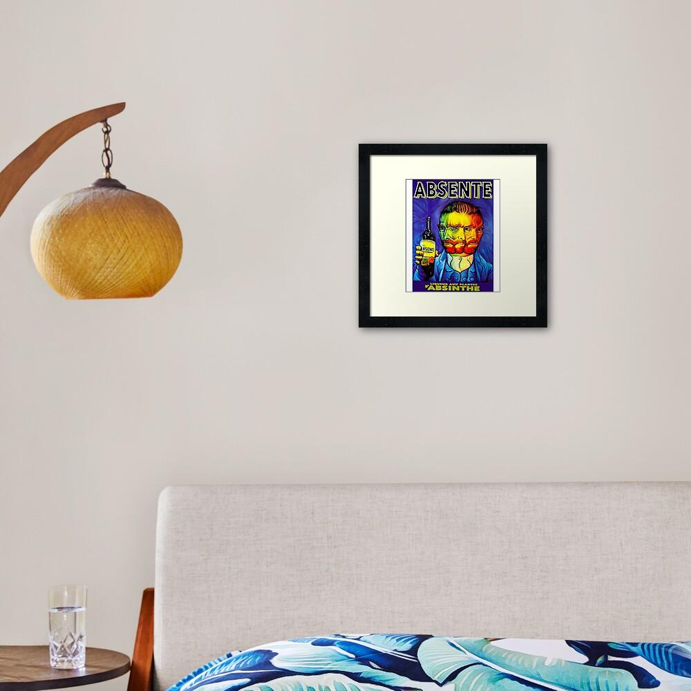 Absente (Absinthe) Van Gogh Parody Vintage Poster Framed Art Print
