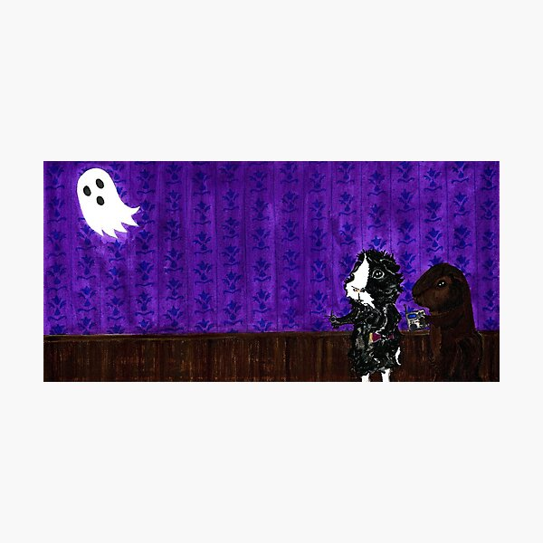 Thaddeus and Pammy Ghost Hunting  Photographic Print