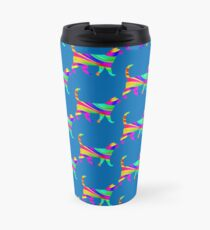 Rainbow Square Cat Inverted 3 Travel Mug