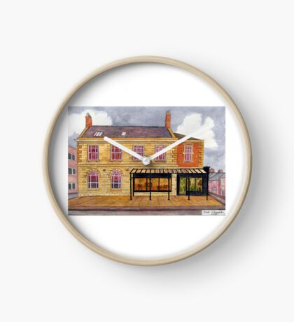 426 - FRAMEWORKS CAFE & SHOP, BLYTH - DAVE EDWARDS - WATERCOLOUR - 2018 Clock