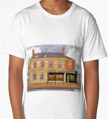 426 - FRAMEWORKS CAFE & SHOP, BLYTH - DAVE EDWARDS - WATERCOLOUR - 2018 Long T-Shirt