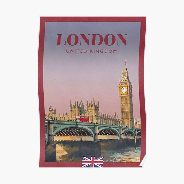 Travel Poster - Big Ben, London, United Kingdom Poster