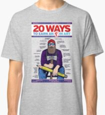 """""""20 Ways to get an 'F' in Art"""" - Funny Creative Educational Classroom info-graphic Design Classic T-Shirt"""