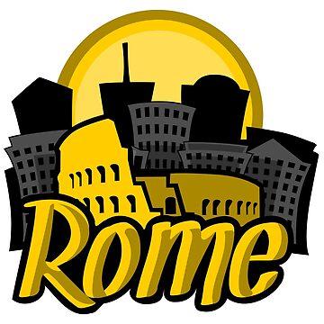 Rome Skyline Sunrise by pda1986