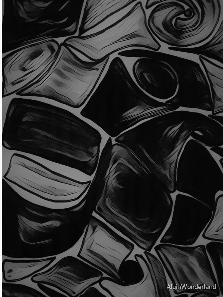 Black Pattern / Black rounded print by AlyinWonderland
