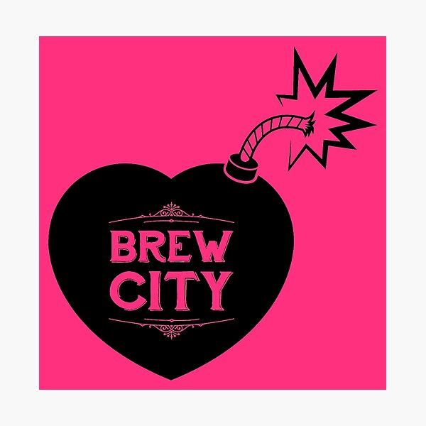 Heart Bomb Logo Photographic Print