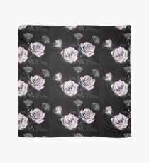 Lilac rose on black background Scarf