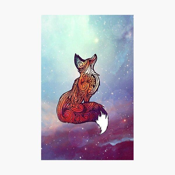 Space Fox Photographic Print