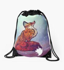 Space Fox Drawstring Bag