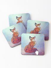 Space Fox Coasters