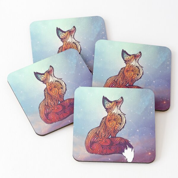 Space Fox Coasters (Set of 4)