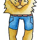 Cat in Denim Shorts by Helen Grimes