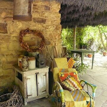 Old Chair, Lavendula Farm, Daylesford, Victoria  by rozmcq