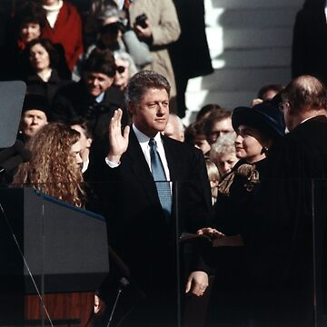 Bill Clinton Taking Oath - 1993 by warishellstore