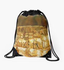 Leaving Segovia Drawstring Bag