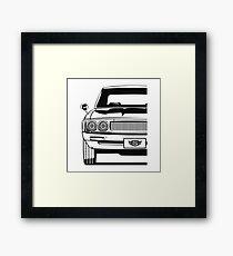 GT-R KPGC110 (black & white) Framed Print