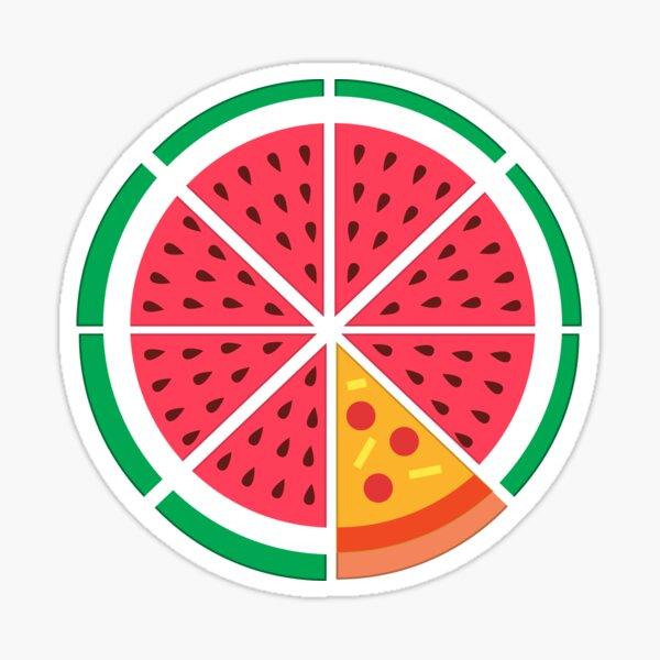 Watermelon Pizza Sticker