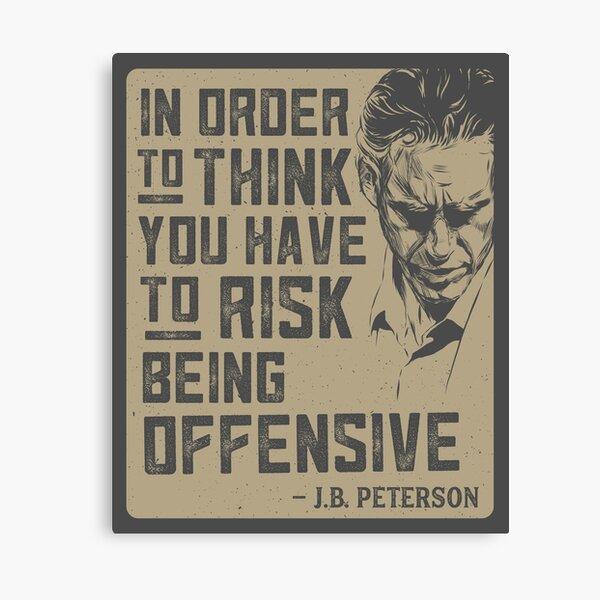 Jordan Peterson Quote Canvas Print