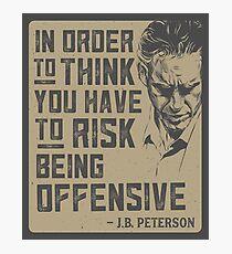 Jordan Peterson Zitat Fotodruck
