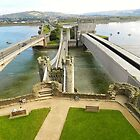 The view from Conwy Castle. North Wales by hanspeder