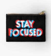 Stay Focused Zipper Pouch