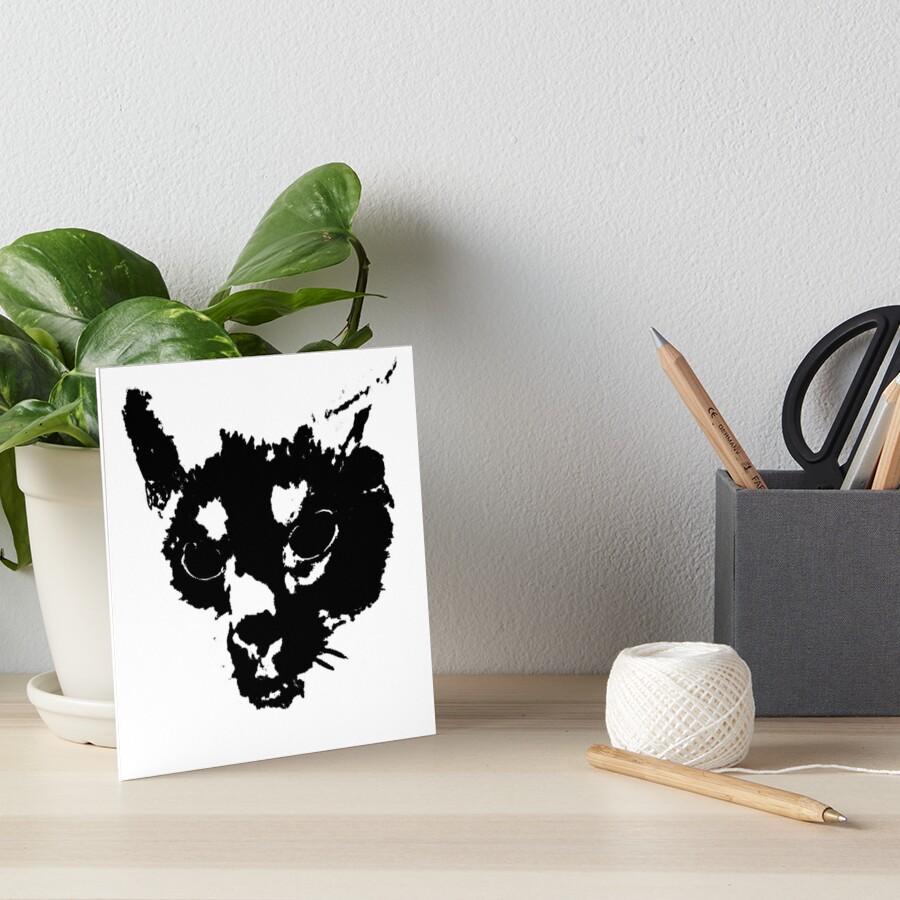 MInki's Angry Art Board Print