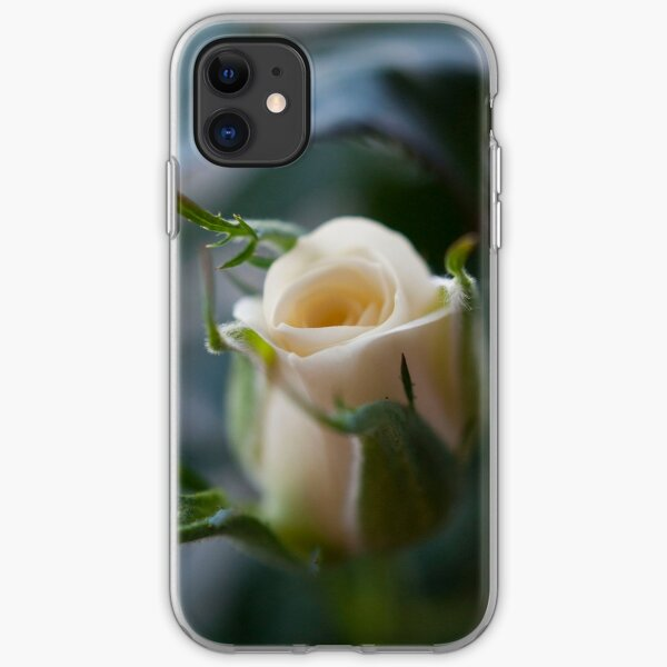 White Rose iPhone Soft Case