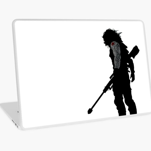 Winter soldier silhouette Laptop Skin